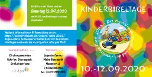 Kinderbibeltage 2020 Flyer (aussen)